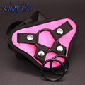 Атласный ремешок на фаллоимитатор проводов, регулируемый Пояс Страпон Ремень Ons проводов брюки для различных Большой Дилдо женщин Лесбиянки Гей Секс-Игрушки