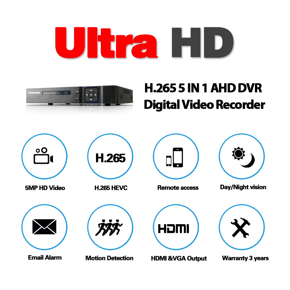 Image 3 - 16 Channel AHD DVR 5MP DVR 16CH AHD AHD 5MP NVR Support 2560*1920P 5.0MP Camera CCTV Video Recorder DVR NVR HVR Security System-in Surveillance Video Recorder from Security & Protection