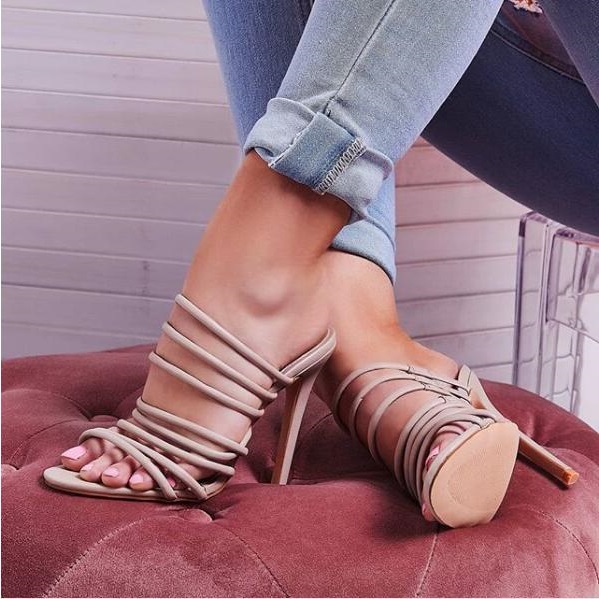Rome Style Black Beige Cross Strap High Heel Women Sandals Cut-out Peep Toe Gladiator Sandals Women 2019 Summer Dress ShoesRome Style Black Beige Cross Strap High Heel Women Sandals Cut-out Peep Toe Gladiator Sandals Women 2019 Summer Dress Shoes