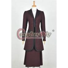 Cosplaydiy Doctor Who 8th Season Female Missy Mistress Cosplay Costume Adult Women Halloween Dress Custom Made D0817
