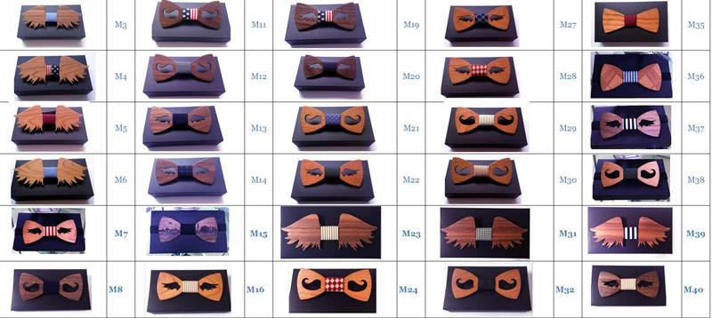 Good Wood Bow Tie For Men Classic Wood Bowties Neckwear Creative 3D pure handmade butterfly wood tie