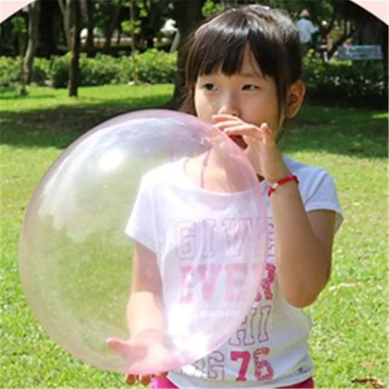 KisMa 3pcs set Magic Blow Up Balloon Bubble Kids Toy Magic Balloon Funny Outdoor Game Toys for Children zabawki dla dzieci in Bubbles from Toys Hobbies