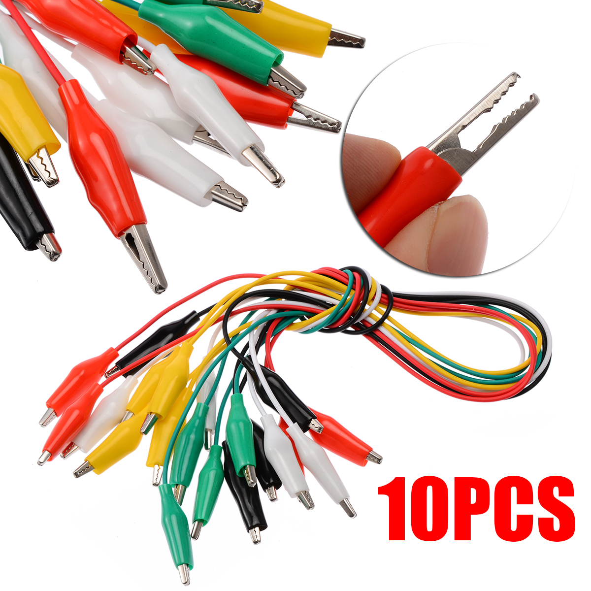 40 Electric Alligator Clip Test Leads Double-ended Crocodile Clip Jumper Cable