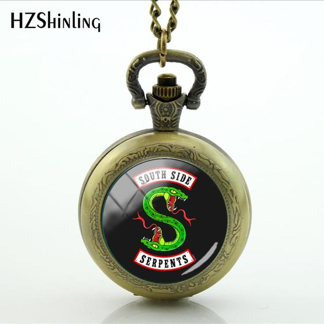 US $3 28 33% OFF|2018 New Mysteries Of Riverdale Pocket Watch Jughead Jones  Jewelry Silver Photo Necklaces Bronze Locket Pocket Watch-in Pendant