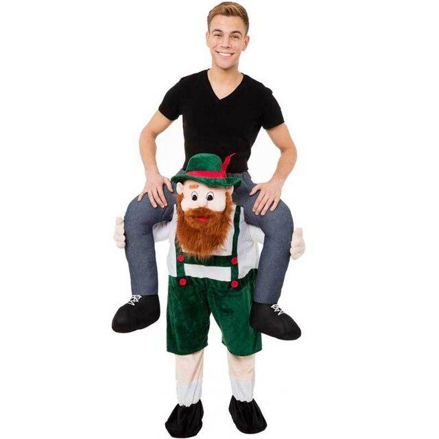 Recém Urso Halloween Orangotango Porco Recheado De Levar de Volta o Passeio No Mascote Fancy Dress Up Costume Party Outfit Adulto Para Transportar calças V