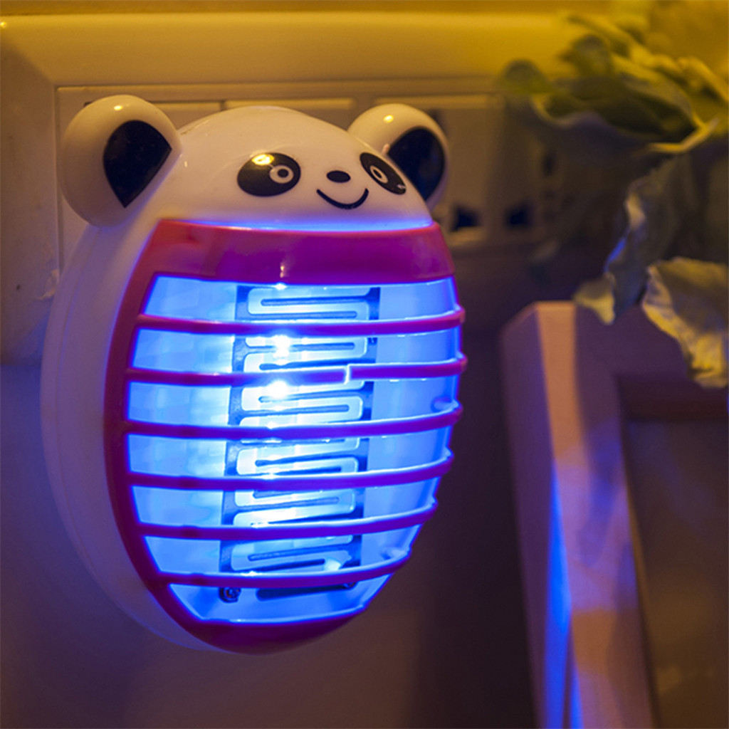 Electric Mute Bear LED Socket Electric Mosquito Fly Bug Insect Trap Killer Zapper Night Lamp Lights Mosquito Killer Lamp MAY27