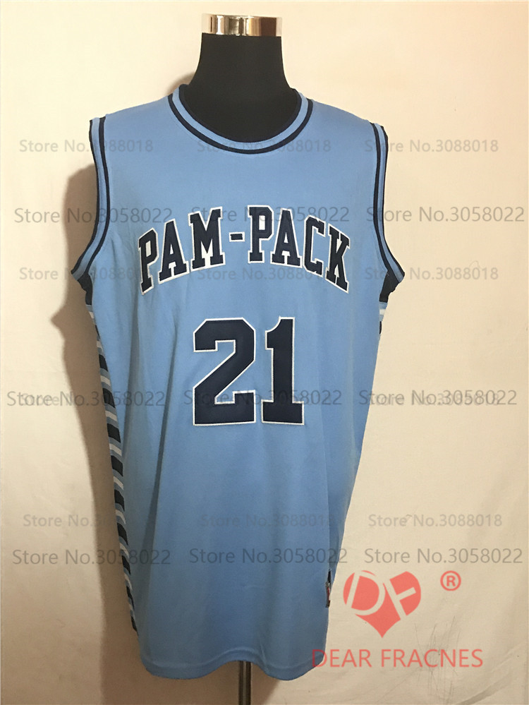 70dc342fe566 ... Mens Throwback Jersey Top Washington Pam Pack HS 21 Dominique Wilkins  Jersey Throwback Basketball Jersey Vintage Retro Basket Shirt ...