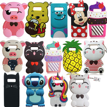 3D Cartoon Cute Lucky Cat Pig Unicorn Pineapple Soft Silicone Case Back Cover Skin Shell For Samsung Galaxy Note 8 Fundas Coque