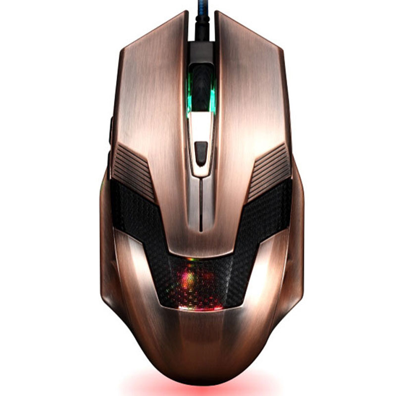 PARASOLANT Anti-static Interference 2400dpi Mouse 6 Keys Computer Wired Vintage USB Gaming Mouse LoL Data Glowing Game Mouse sunsonny t m30 usb wired 6 button 600 1000 1600dpi adjustable led gaming mouse golden red