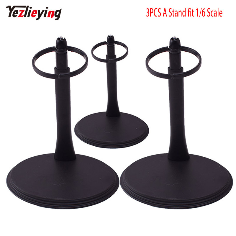 3PCS 1/6 Scale Model Stand Action Figure Accessories A Waist Adjustable Plastic Display Stand With Nameplate for Figure Models
