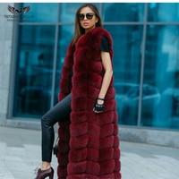 2018 New Arrive X Long Fur Vest Natural Real Fox Fur Vest For Women Winter & Autumn Fur Jacket Luxury Fashion Plus Size Real Fur