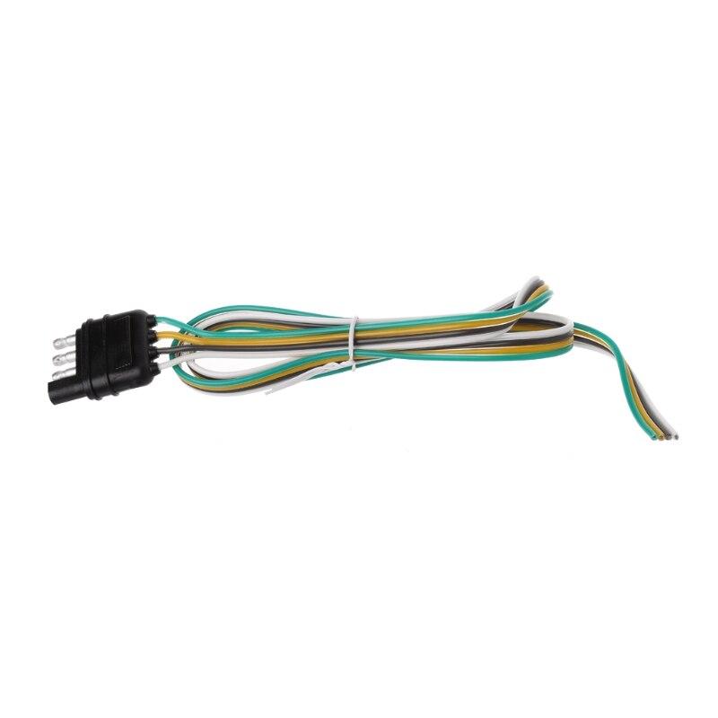 Car 6 24V Trailer Light Wiring Harness Extension 4 Pin Plug 18 AWG ...