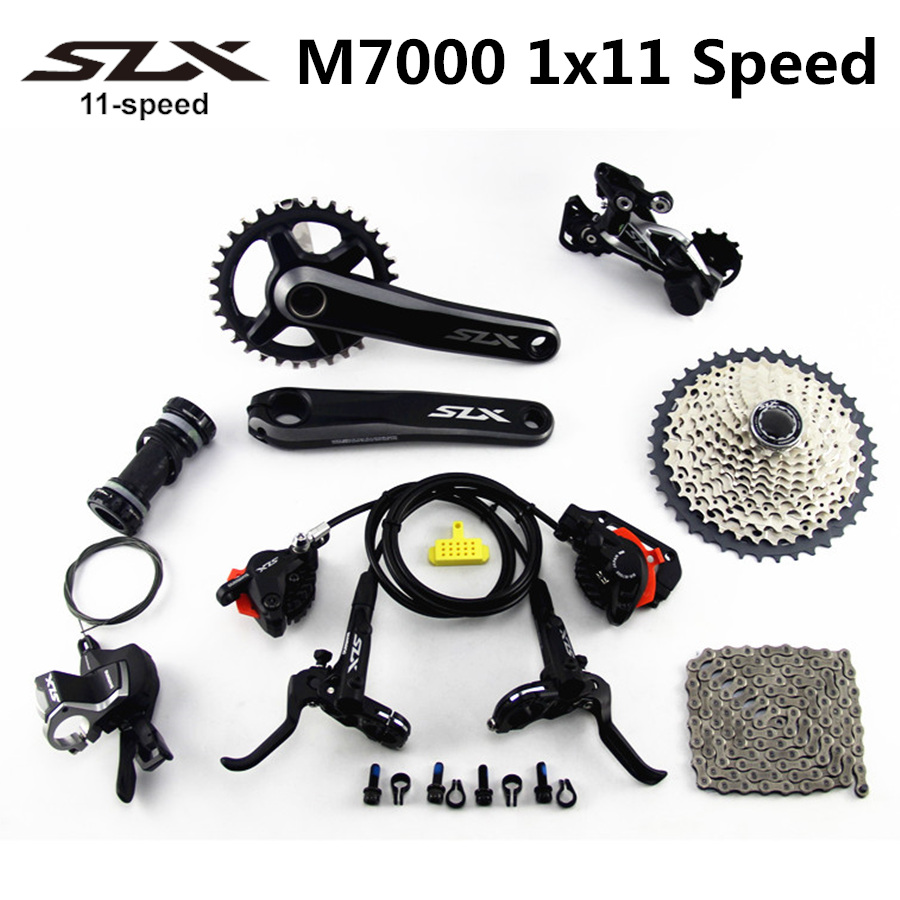 SHIMANO DEORE SLX M7000 Groupset 34T Crankset Mountain Bike Groupset 1x11 Speed 40T 42T 46T M7000