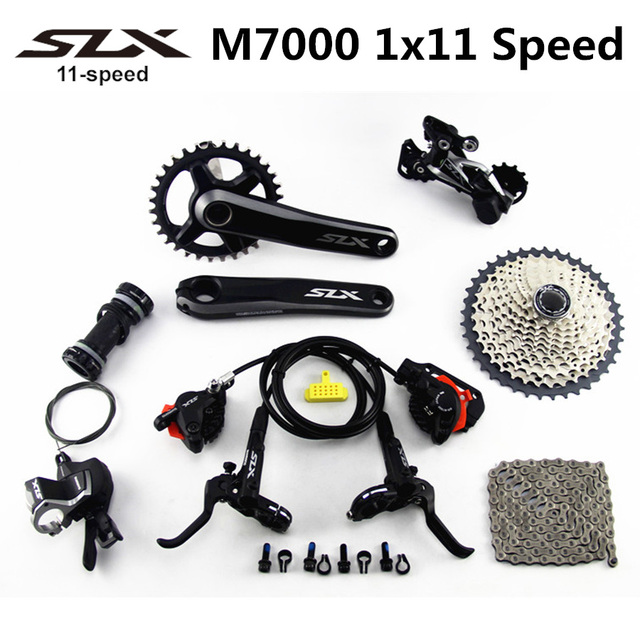 US $330 28 8% OFF|SHIMANO DEORE SLX M7000 Groupset 34T Crankset Mountain  Bike Groupset 1x11 Speed 40T 42T 46T M7000 Brake Rear Derailleur-in Bicycle