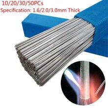 Varilla de soldadura de aluminio de baja temperatura de 10/20/30/50 piezas 1,6/2mm * 330mm varilla de soldadura con cable de soldadura para todo tipo de aluminio