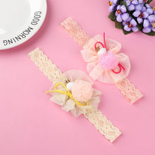 Baby Girl Bow Tie Headband Infant Girl Chiffon Hair Accessories Children Elastic Hairband Delicate Fashion(China)