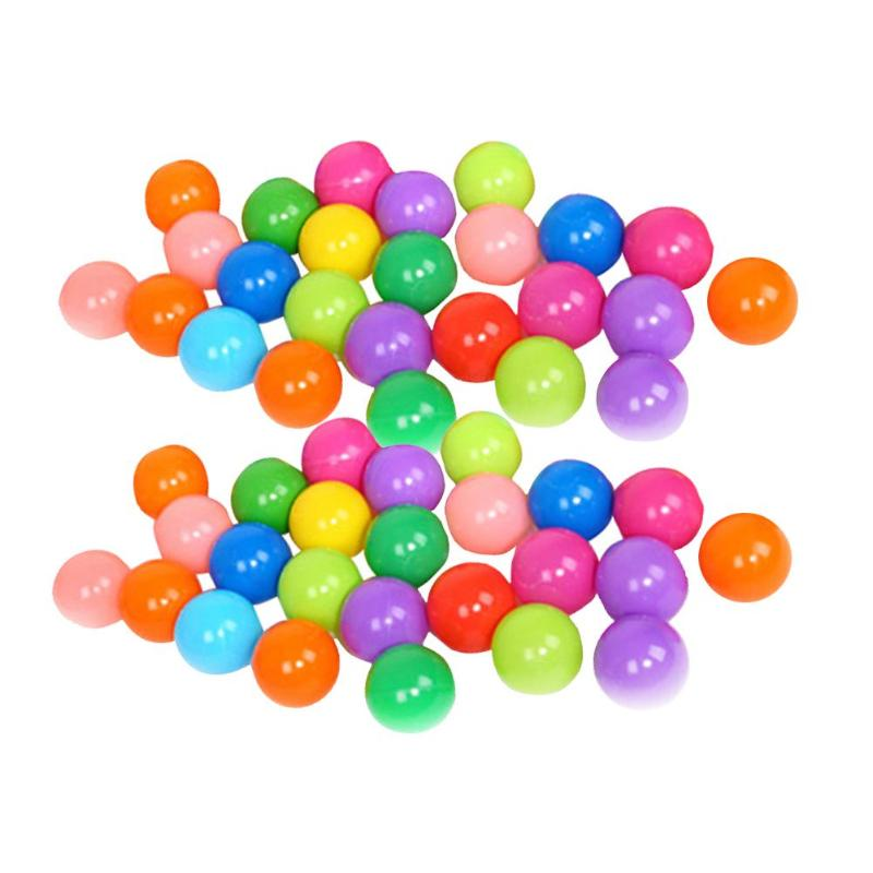 50/100pcs Eco-Friendly Colorful Plastic Ball Toy Soft Ocean Balls for The Pool Baby Swim Pit Toy Stress Air Ball Outdoor Sports