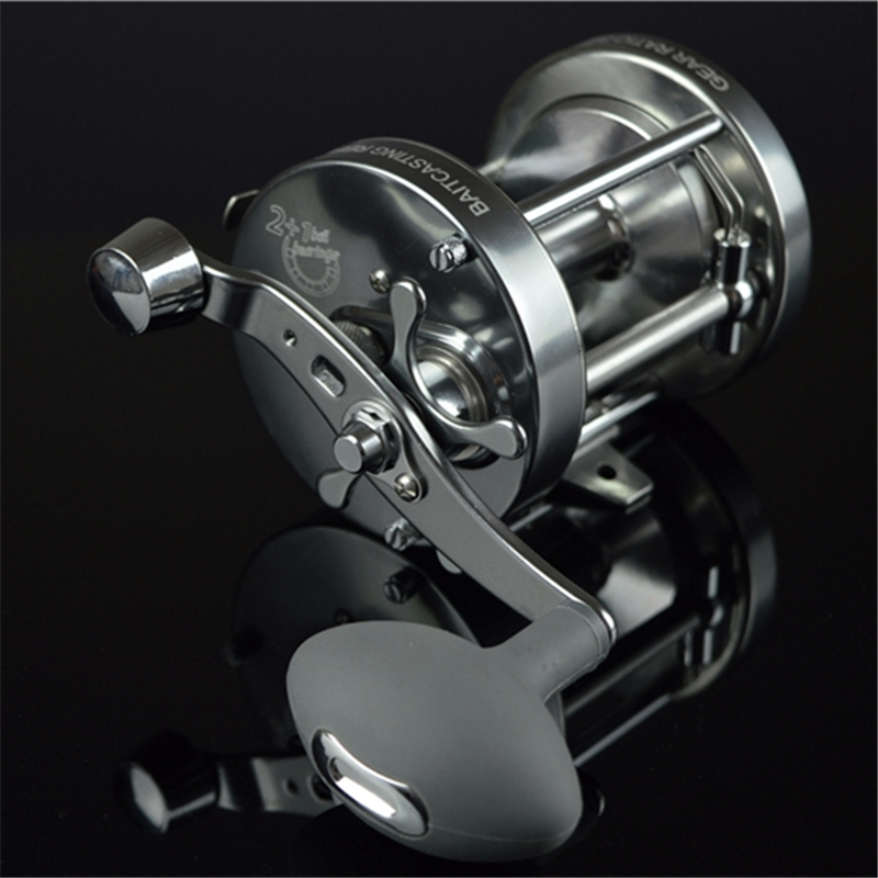 CL90 full metal drum fishing reel 3 bearing trolling wheel fishing vessel boat fishing reel baitcast reel 1pcs ct100 3bb drum fishing reel stainless steel trolling reel boat fishing reel 3 8 1