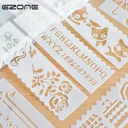 EZONE 8 шт. линейки для рисования Животные/Car/листья/цветок/корабль может Печатные полые шаблон штамп для Cgildren DIY Scrpbook искусство питания