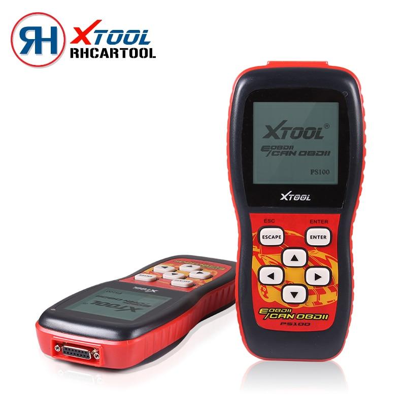 Цена за Автомобиль-детектор XTOOL PS100 OBDII EOBDII Авто code reader canner PS100 OBD2 Диагностический инструмент В том числе VPW, ШИМ, ISO, KWP 2000