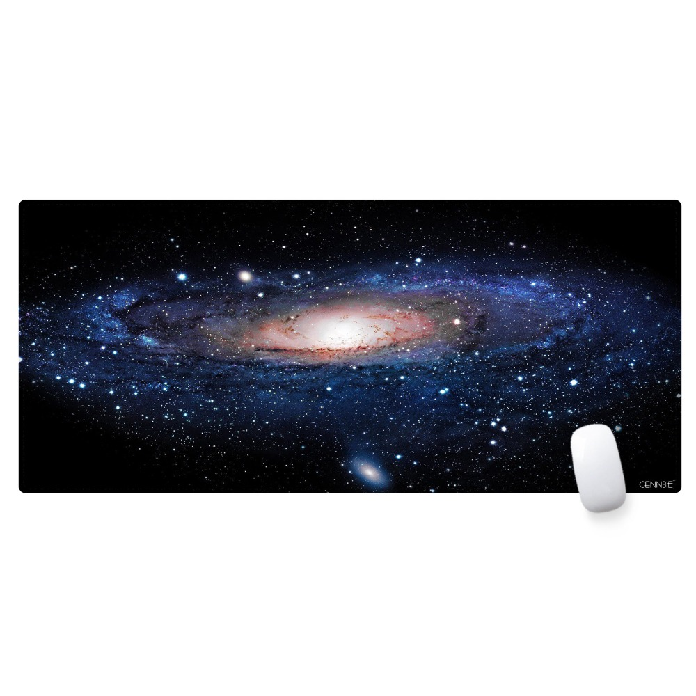 XL Extended Gaming Mouse Pad/Mat, CENNBIE Large Desk Mat/Pad, Stitched Edges Non-slip Rubber Base 90x40CM Keyboard Pad Mousepad