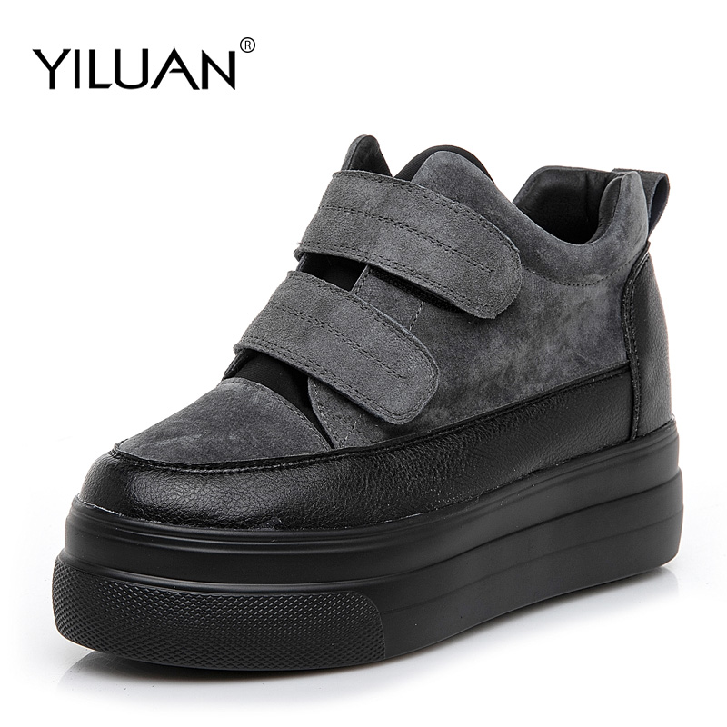 women's platform shoes student 2019 Spring autumn new women's shoes wild England Buckle Strap shoes Sneakers