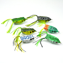 Lots of 6pcs 14g 5.5cm Silicone Frogs Soft Lures Sharp Hooks Snakehead Fishing