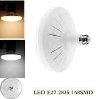 1 шт. НЛО 220 В энергосбережения E27 Светодиодная лампа 60 Вт SMD 2835 на плоской подошве Мощность светодиодные лампочки 220 В E27 НЛО свет для дома борд...