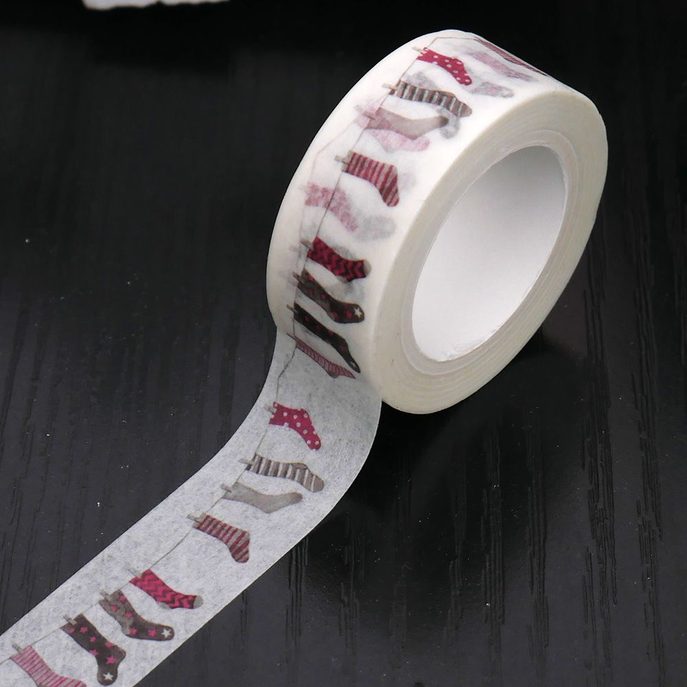1 pc Cute Socks Washing Tape DIY Decor Scrapbook Planner Mask Adhesive Kawaii Stationery