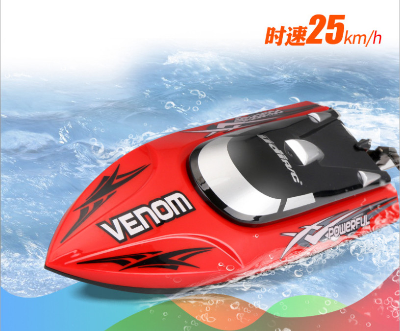 High Speed Mini RC Speedboat Tempo Power Venom 2 4G Remote Control Boat with Auto Rectifying