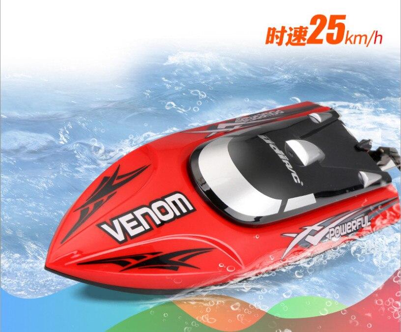 Mini bateau télécommandé à grande vitesse de Venom 2.4G de puissance de Tempo de bateau à moteur de RC avec la Direction automatique de déviation de rectification-in Bateaux télécommandés from Jeux et loisirs    1