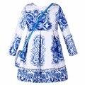 Милан творения девушки платье принцессы костюм 2015 осень зима роуз детские платья марка одежды для детей платья