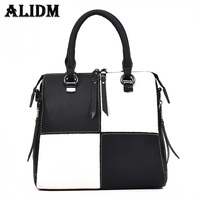 ALIDM Women S Black And White Grid Handbag Brand Michael Handbag 2017 Fashion Ladies Handbag Ladies