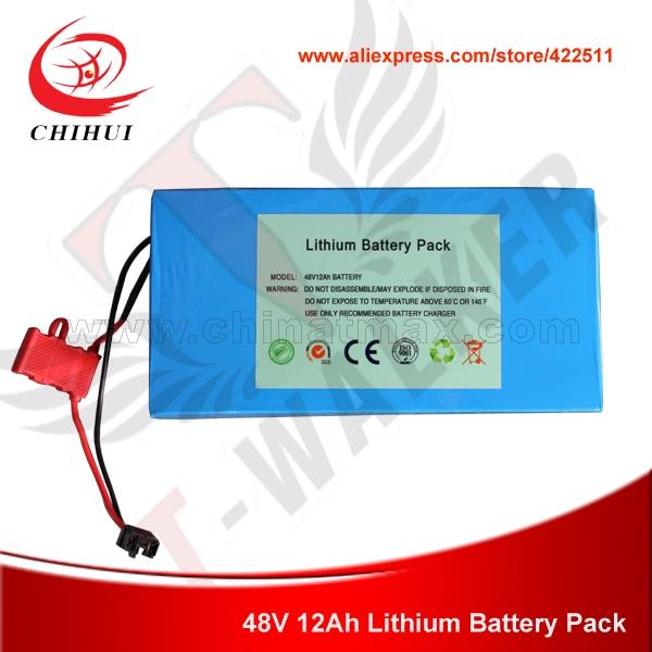 Prix pour 48 V 12Ah Rechargeable Au Lithium Batterie Pack avec RoHs, CE-approuvé pour Pliable Électrique Scooter, Vélo Électrique (pièces pour Scooters)