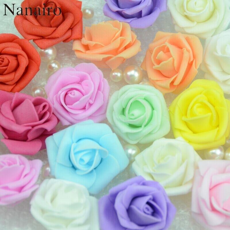 20PCS/Lot  PE Foam Rose Flower Head Artificial Rose Flowers Handmade DIY Wedding Home Decoration Festive & Party Supplies