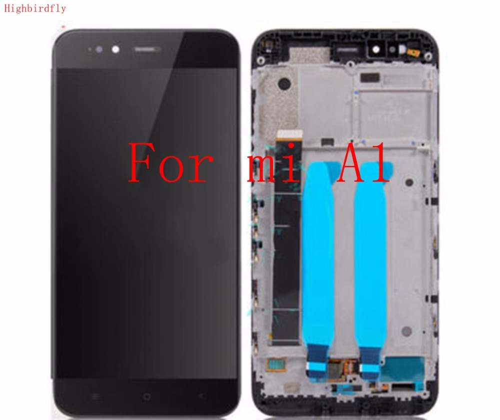 Highbirdfly For Xiaomi mia1 Mi A1 Lcd Screen Display WIth Touch Glass DIgitizer Frame Assembly Replacement Parts