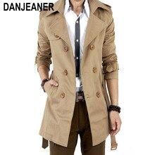 Trench Coat pour hommes classique, manteau croisé croisé pour hommes, vêtements longs, vestes et manteaux Style britannique, collection 2016