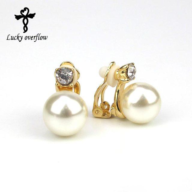 Boucle oreille clip perle