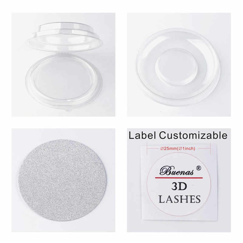 b73053329d3 50 sets eyelashes packing box blank transparent false eyelash boxes round  clear trays lashes packing LOGO