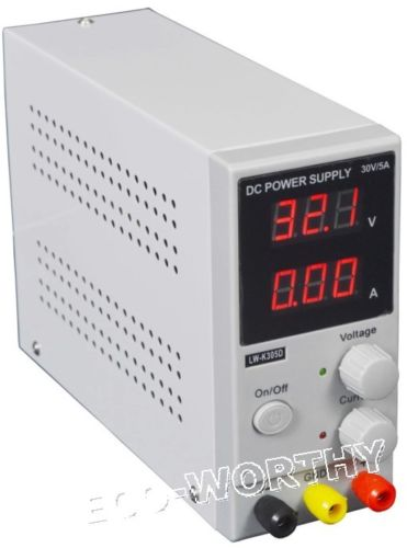 UK Style Adjustable Variable Digital Switching DC Power Supply 30V 5A Portable 220V LCD suck uk
