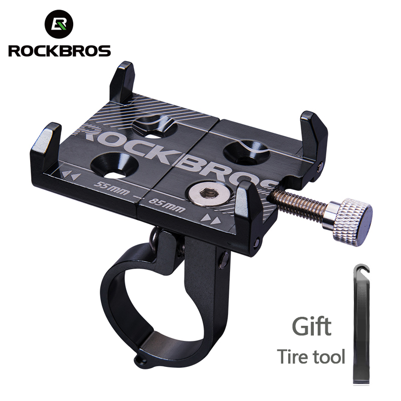 ROCKBROS Cycling Bike Bicycle Phone Holder Stand Bike Handlebar Adjustable Phone Mount Holder Bracket Universal Bike Accessories bicycle phone holder universal mtb bike handlebar mount holder cell phone stand bicycle holder cycling accessories parts