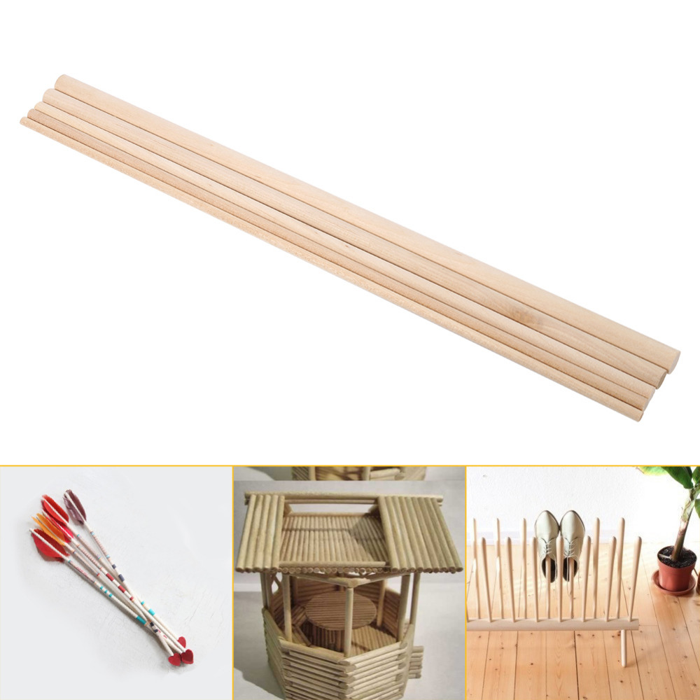 Long wooden craft sticks - Diy Wooden Arts Craft Sticks 30cm Long Dowels Pole Rods Sweet Trees Wood Tool 10pcs