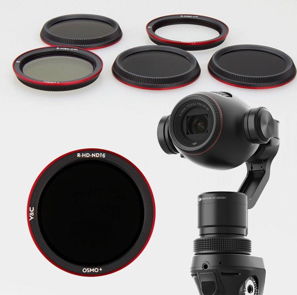 UV CPL ND4 ND8 ND16 Objektiv Filter für DJI OSMO Plus Handheld Gimbal Kamera Objektiv Filter für OSMO + X3 zoom Stabilisator Ersatzteile