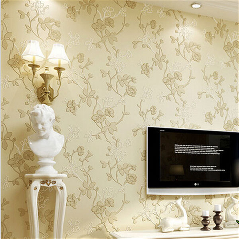 beibehang Elegant Europe Non-woven Flower Design 3D Wall paper Pastoral Wallpapers Bedding Room Decor Mural Wall Paper roll s ozment when fathers ruled – family life in reformation europe paper
