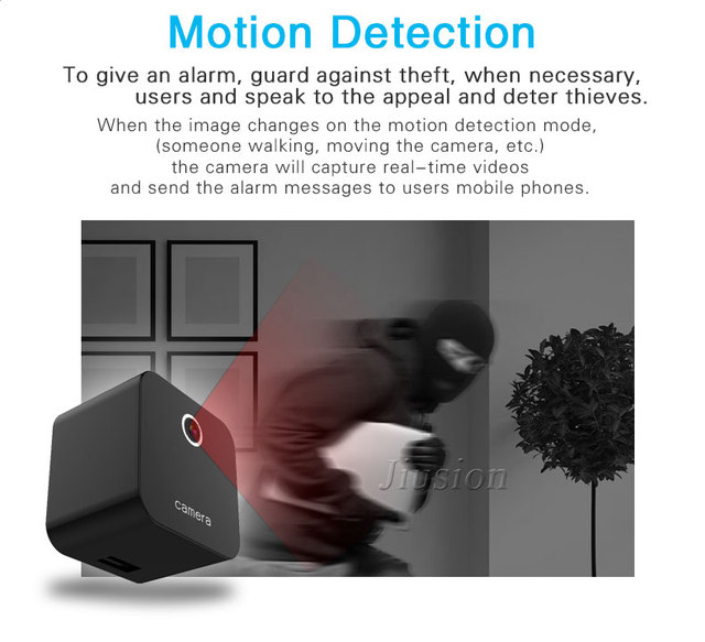 Mini WiFi Camera HD 1080P Night Vision Motion Sensor Micro Cam DVR Video Voice Recorder Remote Camcorder DVR of Charger Socket 3