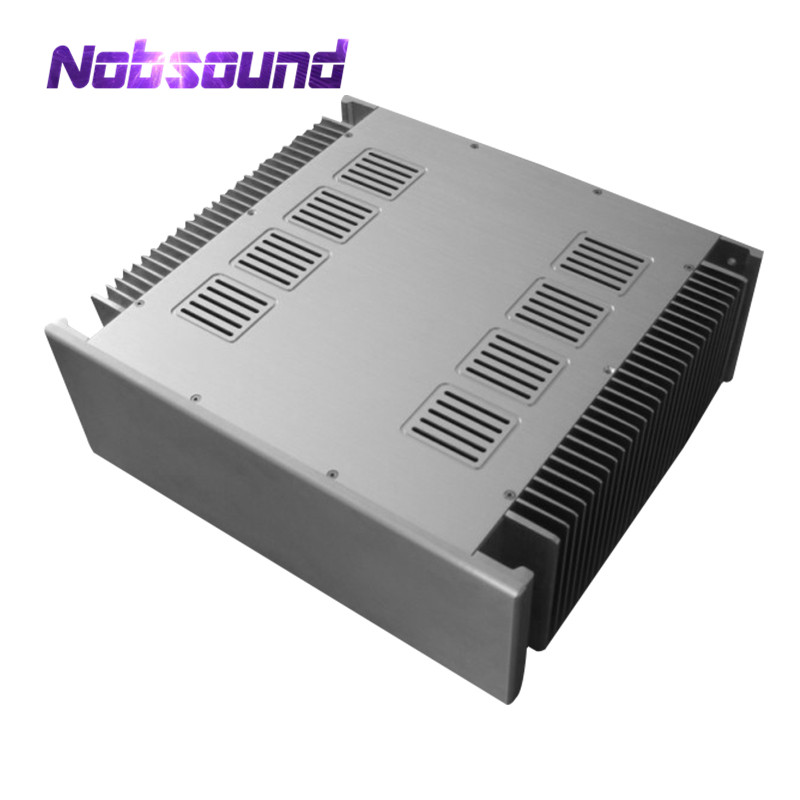 Nobsound High-End Aluminum Chassis Power Amplifier Case Audio DIY Cabinet Silver / Black gplus silicone intercooler turbo pipe hose kit for audi a4 vw passat b5 1 8t 94 05
