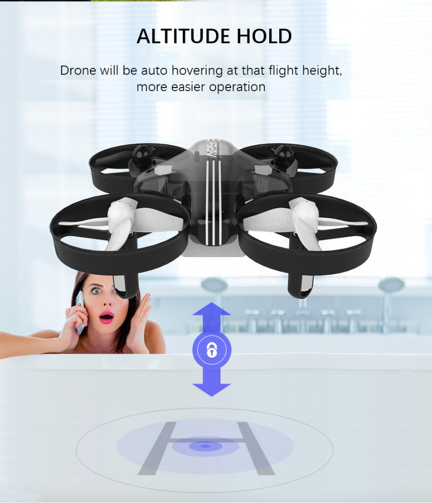 Image 4 - Mini Drone RC Quadcopter Remote Control Helicopter 4CH Pocket Aircraft Headless Mode Altitude Hold Toy Dron Shipped From RU-in RC Helicopters from Toys & Hobbies
