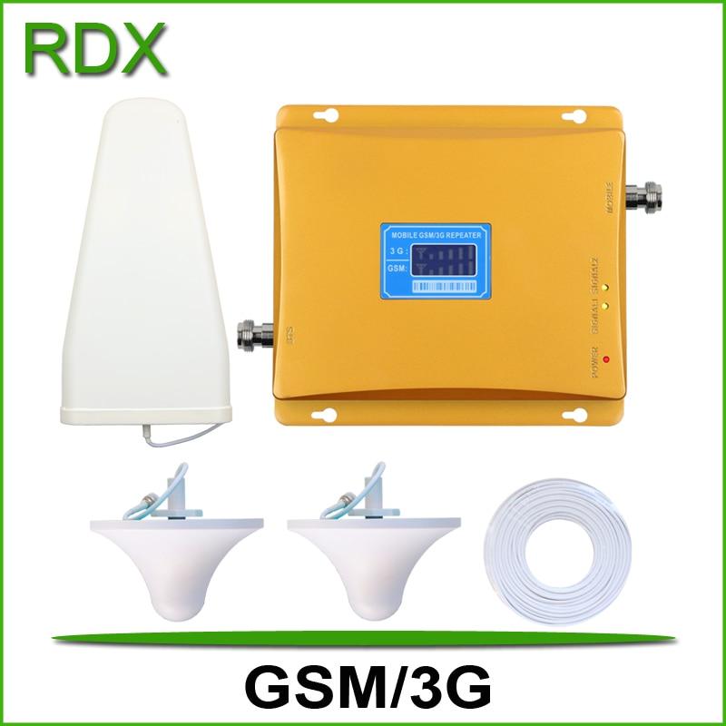 Для 2 комнат высокий коэффициент усиления 65 дБ двухдиапазонный gsm 900 МГц 3g wcdma 2100 МГц UMTS сигнал сотового телефона ретрансляционный усилитель
