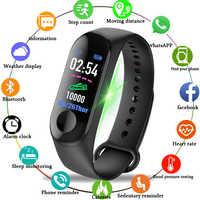 Hommes femmes montres intelligentes Sport Fitness Bracelet couleur-écran étanche tensiomètre surveillance de la fréquence cardiaque Pk mi bande 3