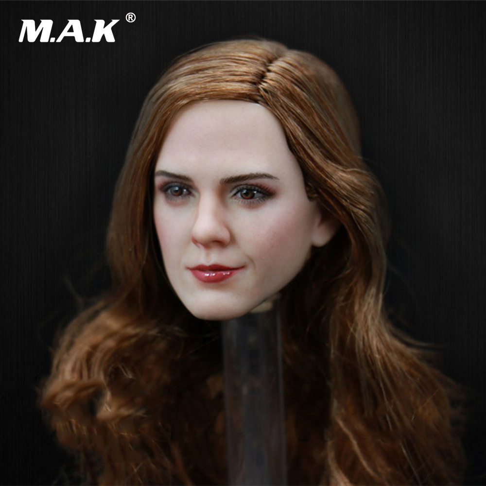 1/6 Scale Emma Watson Head Sculpt Beauty Lady Head Carving for 12 inches Female DIY Pale Color Figures 1 6 scale the driver travis head sculpt with sunglasses for 12 inches bodies figures collections
